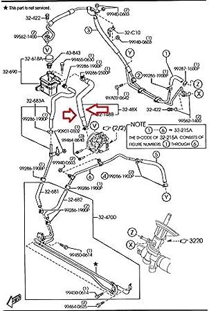 Mazda UE38-32-461A Power Steering Reservoir Line Hose