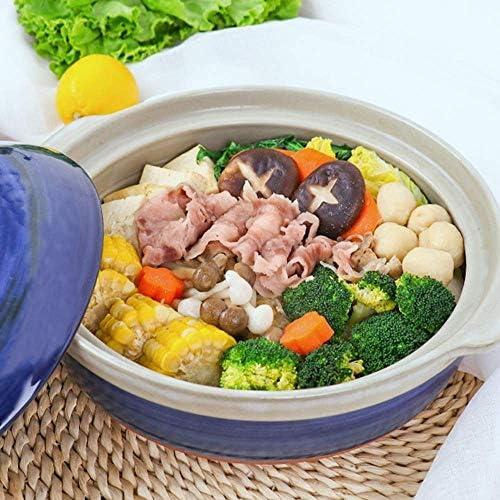 Diaod Casserole de ménage for Le Porridge de Cuisine Faire bouillir la Casserole Peu Profonde de Soupe for Le Pot d'argile à Hautes températures Casserole isolée