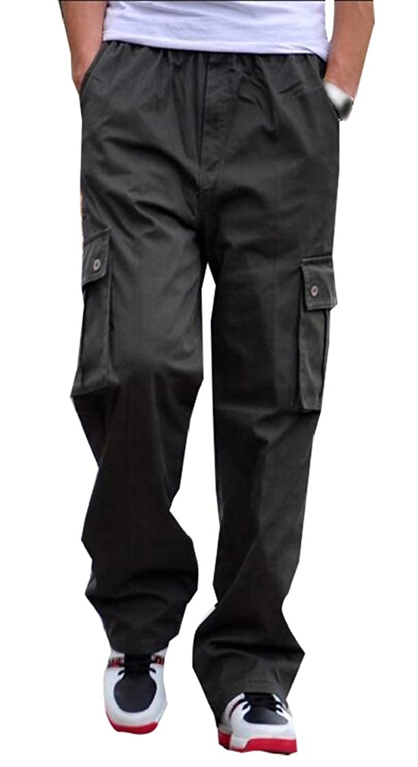hower Mens Loose Fit Casual Cotton Military Army Cargo Camo Combat Work Pants