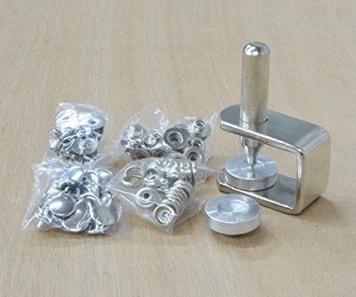 CS Osborne Line 20 Snap Setter kit, Includes 25 Nickel-Plated Over Brass Snaps