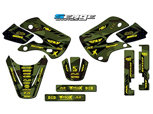 (Senge Graphics 2001-2018 (All Years) Suzuki RM 65, Apache Matte Green (MATTE FINISH) Base graphics kit.)