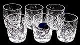 SET of 6 Russian Vintage CUT Crystal Stemless Shot Vodka Glasses 1.5 Oz / 50 ml, Old-fashioned Handmade European Crystal Gift Set
