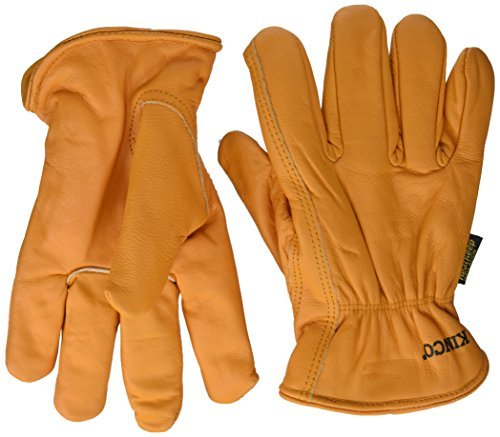 - Getting Fit 35117008175 Kinco 0 Lined Grain Buffalo Leather Ranch and Work Glove, Single Pair, Medium