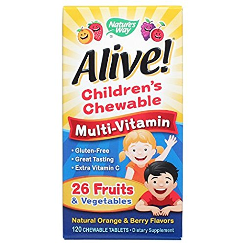 Alive! Children's Multi-Vitamin Chewable - 120 Chewable Tablets by Nature's -