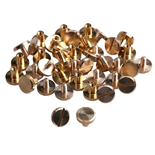 20pcs10x4x6mm Flat Chicago Binding Screws Posts Brass Scrapbooking Nail Rivets