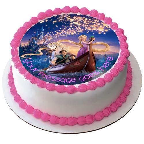 Rapunzel - Decoración comestible para tarta (19 cm), diseño ...