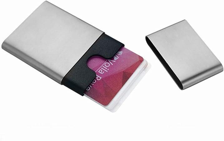 Tarjeteros Estuche para tarjetas Estuche para tarjetas Estuche para tarjetas de visita gratis Moda para hombres de negocios Estuche para tarjetas creativo Estuche para tarjetas de visita de acero inox: Amazon.es: Hogar