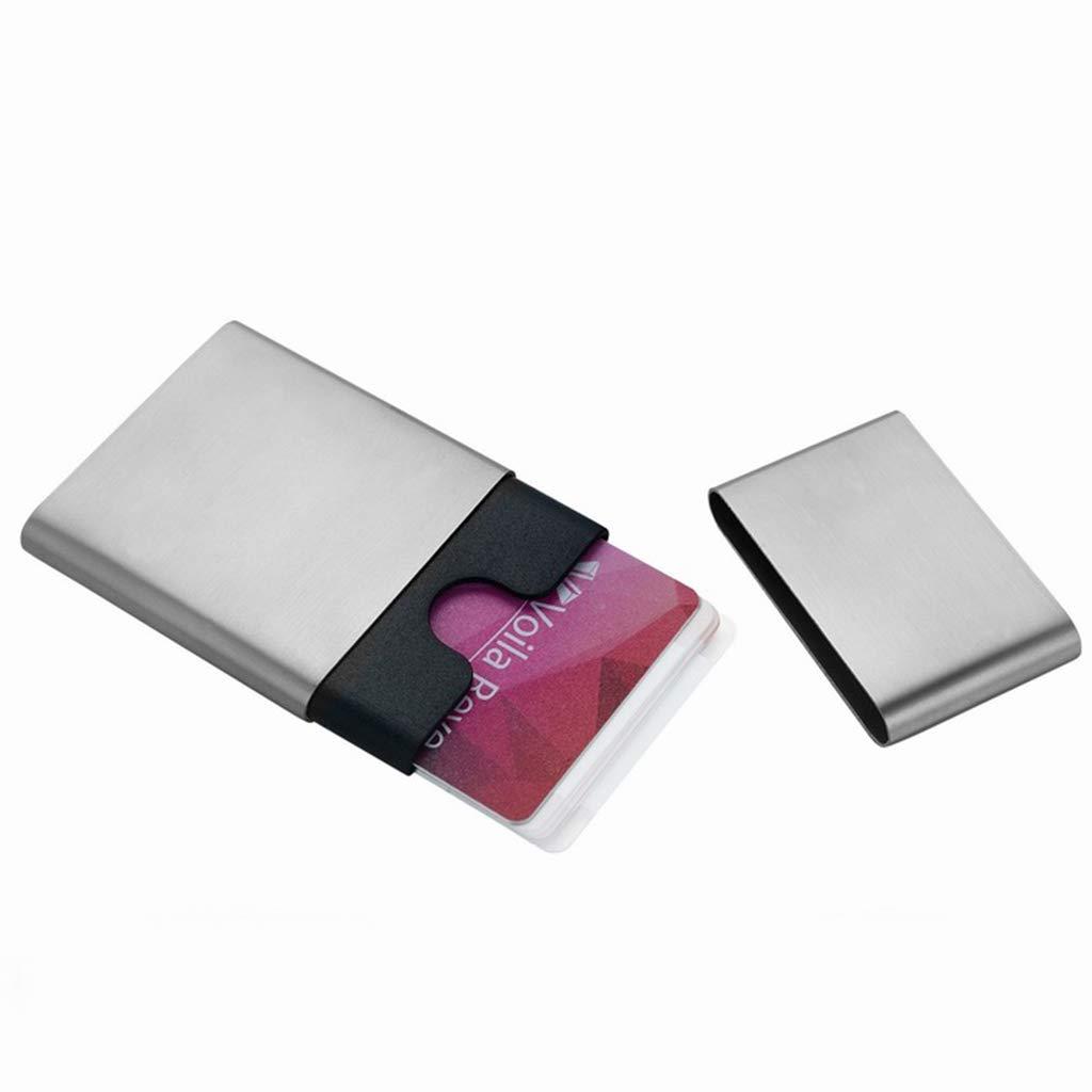 Visitenkartenbücher & -karteien Card Case Card Box Gratis-Visitenkarten-Etui Herren-Business-Mode-Kreativ-Karten-Etui Einfacher Edelstahl-Visitenkartenetui Kundengerechter Kartenetui Visitenkartenbüch B07K5BH2N5      Einfach zu bedienen