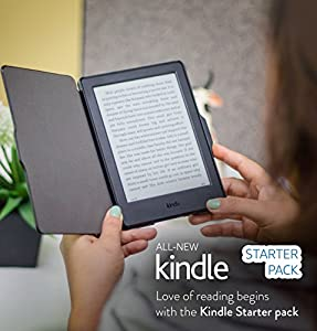 Kindle Starter Pack with All-New Kindle E-Reader in Black (MRP Rs 5,999), NuPro SlimFit Cover for Kindle - Black (MRP Rs 999)