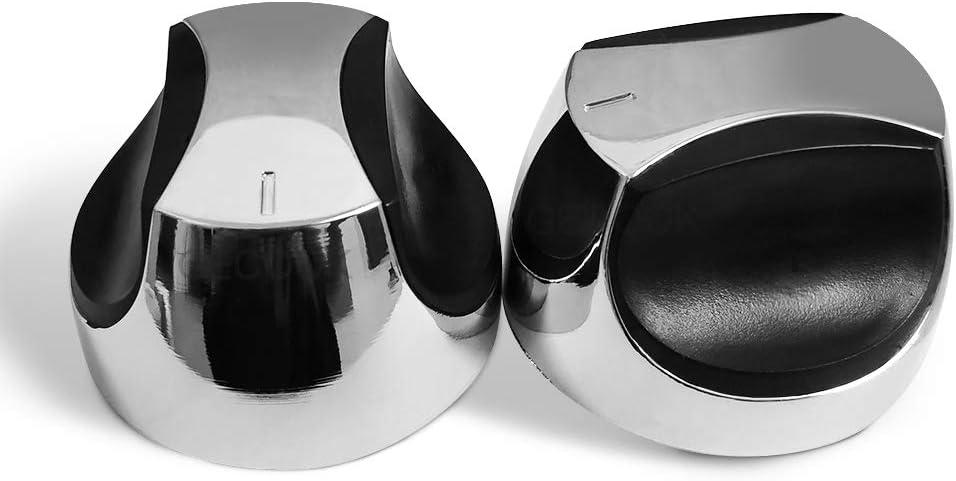 gecook 2 Pack Control Knob for Gas Grills Burner, Fits 0.315 inch D-Shape Valve Stem Design Gas Grill