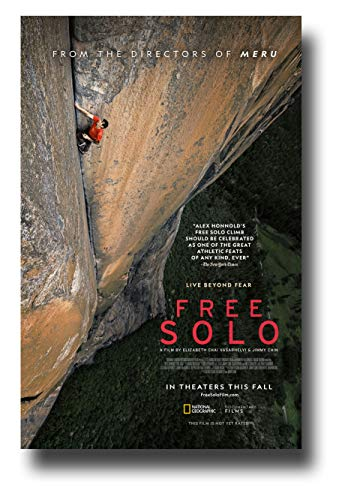 Free Solo Poster Movie Promo 11 x 17 inches National Geographic Main Cliff