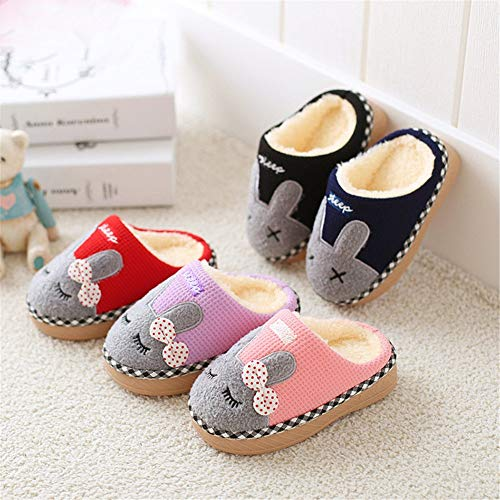 SITAILE Fur Lined Indoor Bunny Slippers