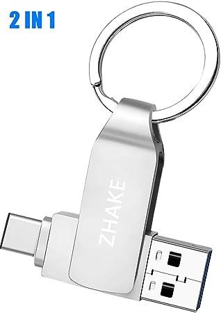 Memoria USB 64GB Tipo C y OTG Pendrive USB 3.0 Llavero de Metal Impermeable Memoria Flash Drive 2 en 1 para Movíl/PC/Notebook/Smart TV: Amazon.es: Electrónica