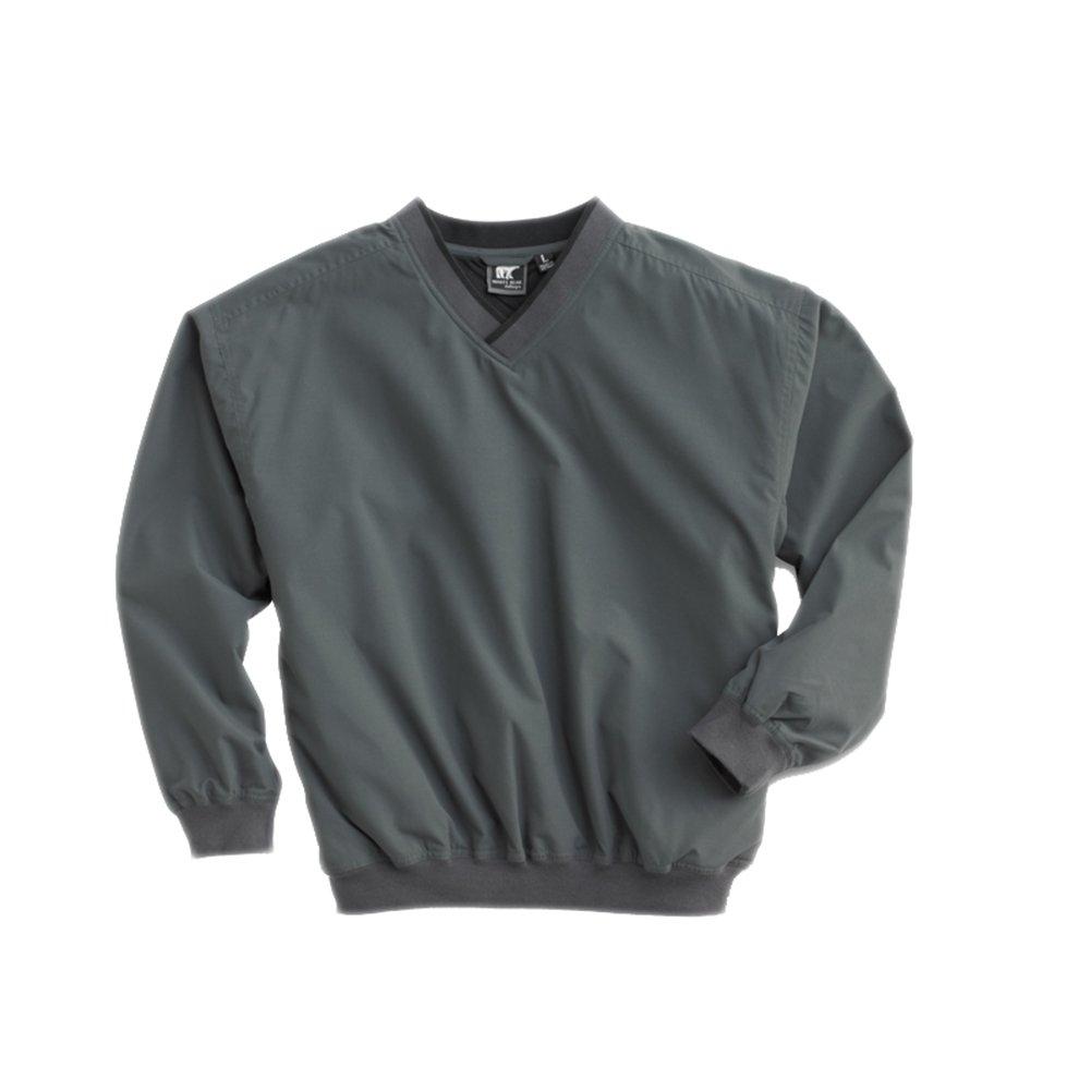 White Bear Men's Microfiber Windshirt, XX-Large, Charcoal by White Bear