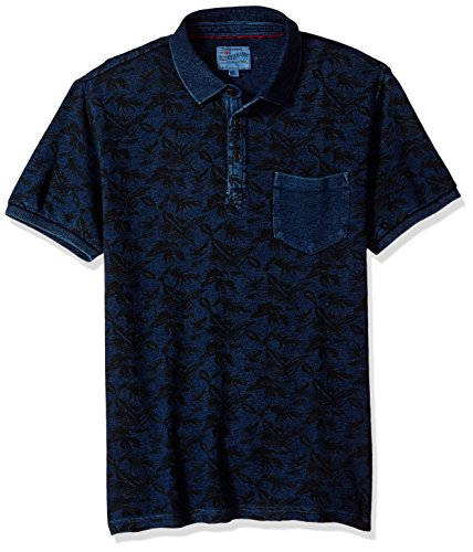 Lucky Brand Men's Palm Polo Shirt, Indigo, X-Large