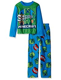 Minecraft Boys' Gamer 2-piece Fleece Pajama Set