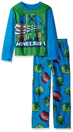 Minecraft Boys Gamer 2-piece Fleece Pajama Set
