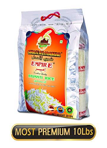 SHRILALMAHAL Empire Basmati Rice (Most Premium), 10 lbs / 180 oz