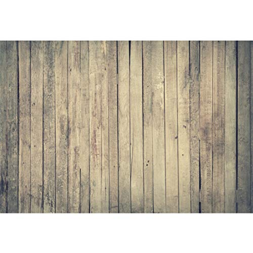 Yeele Wooden Floor Backdrops 7x5ft /2.2 X 1.5M Brown Wood Plank Nostalgia Vintage Shabby Chic Pictures Adult Artistic Portrait Photoshoot Props Photography Background]()