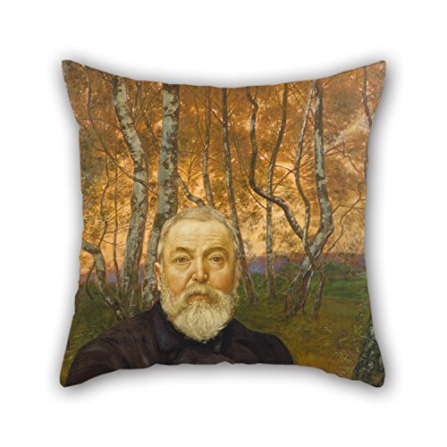 [Oil Painting Hans Thoma - Self-Portrait In A Birch Grove Pillowcover 16 X 16 Inches / 40 By 40 Cm Gift Or Decor For Bar,christmas,car,home,study Room,home Office - Twin] (Thing 1 And Thing 2 Costumes Spirit Halloween)