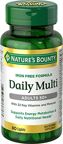 Natures Bounty Daily Multi, Adults 50+, 80 Caplets, 80 Count Review