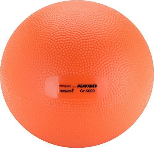 Gymnic Heavymed 5 Medicine Ball, Orange (23 cm, 5 kg / 11 lbs) by Gymnic