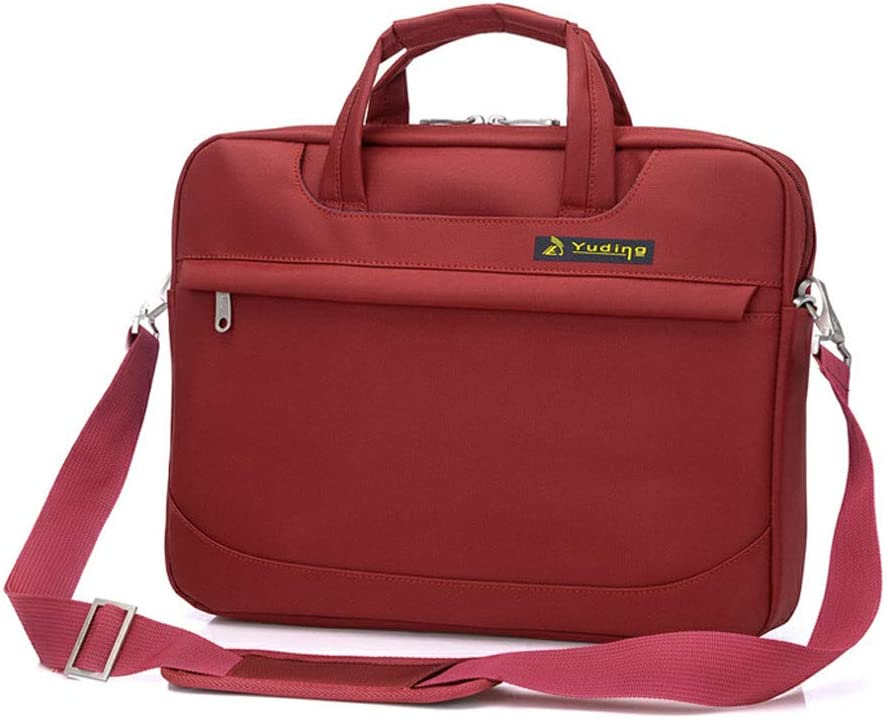 Color : Red, Size : 14in 14in Waterproof and Wearable Laptop Case,Diagonal Cross-Body Business Briefcase,Shoulder Strap Adjustable Length and Detachable