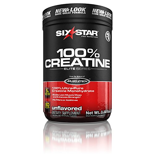 Six Star Pro Nutrition Elite Series 100% Creatine, Ultra-Pure Micronized Creatine, Unflavored 400 Gram Creatine Powder