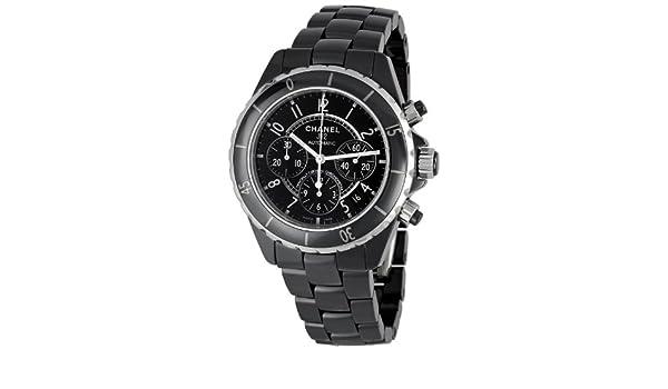CHANEL J12 Chronograph - Reloj (Reloj de Pulsera, Masculino, Cerámico, Acero, Negro, Acero, Negro): Amazon.es: Relojes