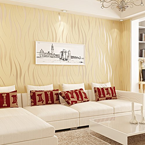 HANMERO Modern Minimalist Non-woven Water Plant Pattern 3D Flocking Embossed Wallpaper Murals Roll for Living Bedroom Home Decor Color5