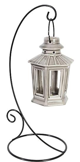 NORTENE Lanterne Suspendue en céramique Saigon - Gris ...