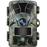 "JXWANG Trail Camera 16MP 1080P HD Wildlife Camera With 120° Detecting Range Night Vision 2.4"" LCD IR LEDs"