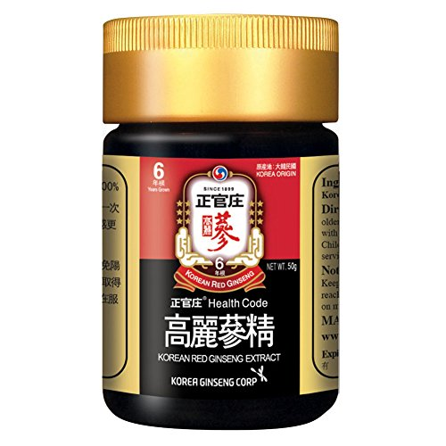 Pure Concentrated Tea Ginseng - KGC Cheong Kwan Jang Korea Red Ginseng Concentrated Extract 50g from 6 Years Old Korean Ginseng Root