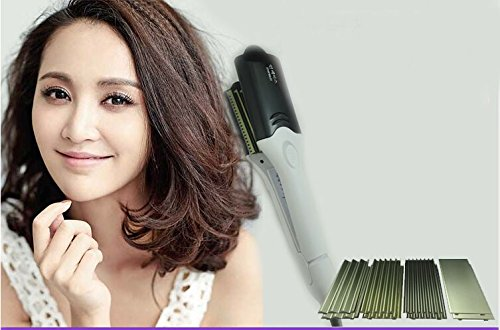 Professional titanium ceramic flat hair straightener curling iron styler straightening irons 4 in 1 styling tools W503