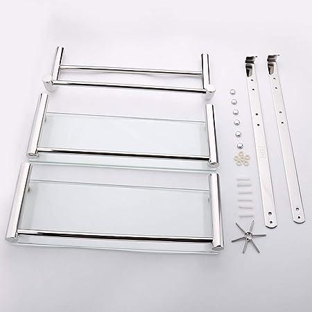 Accessori Per Mensole In Vetro.Bathroom Shelves 2 Tiers Mensola In Vetro Bagno Doccia Salva