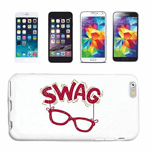 """cas de téléphone iPhone 7 """"SWAG NERD LUNETTES GEEK Nerdbrille JEUX VIDEO CHAMPIONS LEAGUE JEUX VIDEO GEEK LANPARTY"""" Hard Case Cover Téléphone Covers Smart Cover pour Apple iPhone en blanc"""