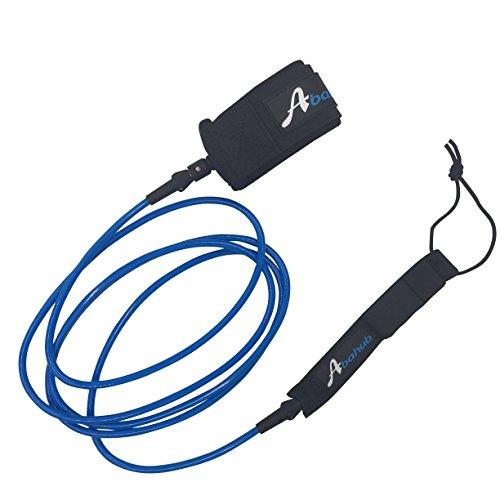 ABAHUB Premium Surfboard Leash Leg Rope SUP Legrope Straight 6/7/8/9/10 feet