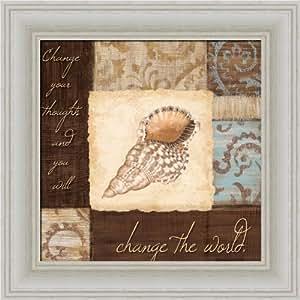 Change the world by jane carroll seashell for Bathroom art amazon
