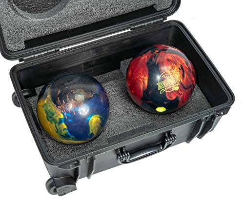 Case Club Double Bowling Ball Heavy Duty Hard Case with Wheels