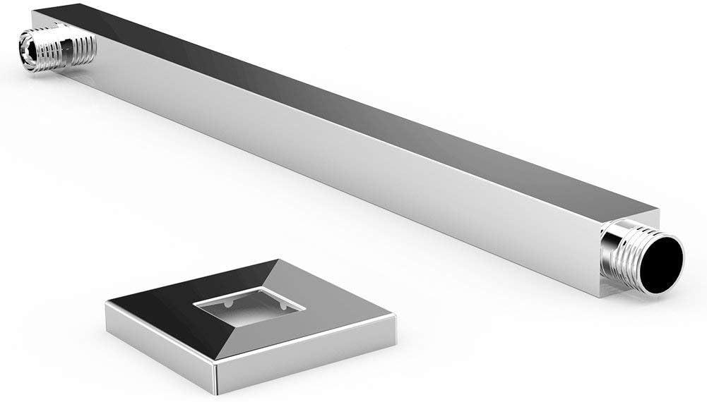 extension du bras de douche pour pluie de douche /à fixation murale composant universel solide Laiton poli mat Noir , 400/mm
