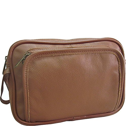 Amerileather Leather Toiletry Bag Brown - 5