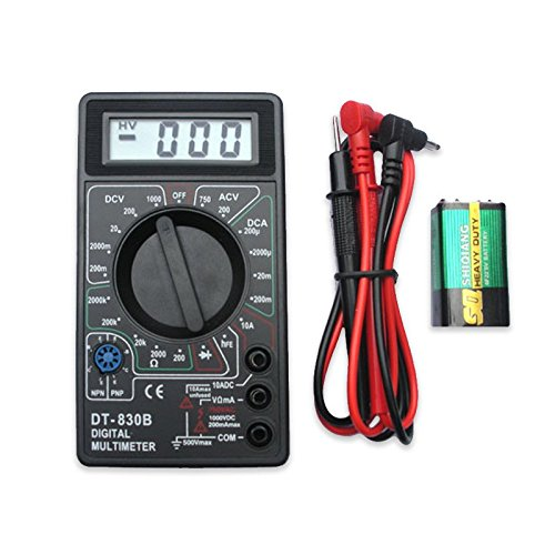 Include Battery LCD Digital Multimeter with Buzzer Voltage Ampere Meter Test Probe DC AC OHM Ohmmeter Diode Tester Ohm Mixer