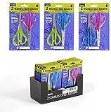2 pack Translucent glitter scissors 48 pcs sku# 1916120MA