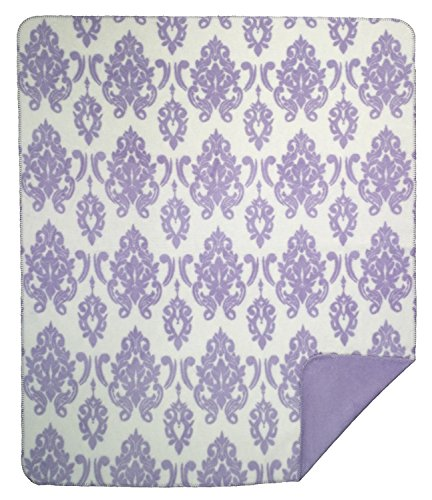 Denali Throw - FactoryDepot Denali Home Collection by Monterey Mills 60-Inch by 70-Inch Denali Double-Sided MicroPlush Throw, Soft Purple Medallion