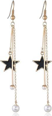 Charm Beach Party Fan Shape Tassel Dangle Earrings Handmade Women Jewelry Conve
