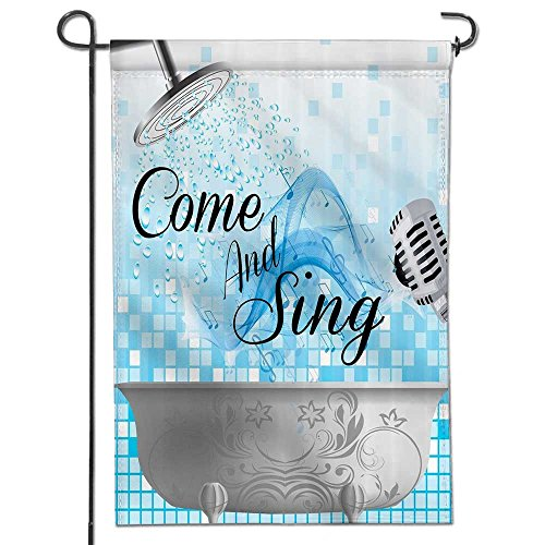 Summer Garden Flag Double-sided,ational Quotes Come and Sing