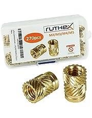 ruthex draadinzetstuk M (stuks) - RX- messing draadbussen - Drukmoer voor kunststof onderdelen - door hitte of echografie in 3D-printeronderdelen