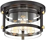 Eagleton 13 1/2'' Wide Oil-Rubbed Bronze LED Ceiling Light