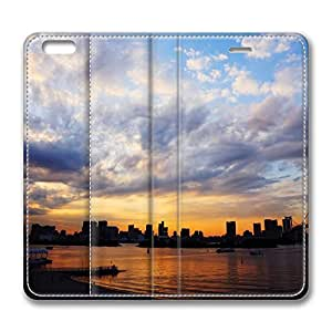 iPhone 6 Plus Case, Fashion Customized Protective PU Leather Flip Case Cover Tokyo City Sunset for New Apple iPhone 6(5.5 inch) Plus