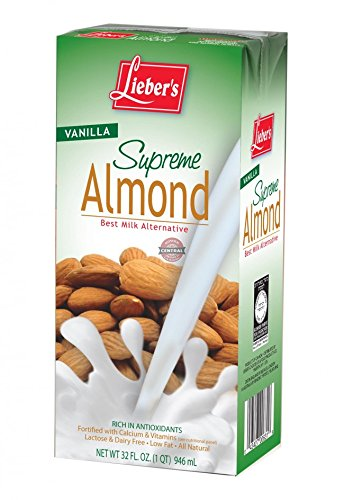 Lieber's Vanilla Supreme Almond Kosher For Passover 32 Oz. Pack Of 3. by Lieber's